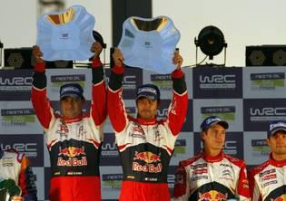 Loeb na najwyższym stopniu podium